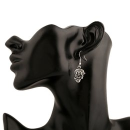 Wholesale Vintage Fashion Photography - 2016 Euramerican Exaggerated Alloy Vintage Earrings Skull Ear Cuff Fashion Street Photography Stylish Jewelry Accessory Free shipping