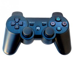 Wholesale New Shock Joystick - 2017 Playstation 3 2.4GHz Wireless Bluetooth Gamepad Joystick For PS3 Controller Controls Game Gamepad New Hot 11 Colors