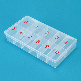 Wholesale Empty Case Box Storage - 2 5 10pcs STORAGE PLASTIC EMPTY BOX with Number (0-10) CASE FOR NAIL ART SALON TOOL - 540 PCS FALSE TIPS
