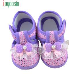 Wholesale Shoe Wholesale Dropship - Wholesale- Hot Kids Baby Girls Comfortable Baby Bowknot Boots Soft Crib Shoes Girl Prewalker 2-10 months Levert Dropship Jan12