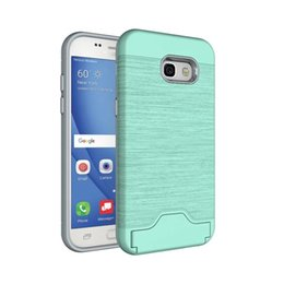 Wholesale Model Armor - Armor Shockproof Case Hybrid 2 in 1 TPU + PC Built-in Card Slot KickStand Back Cover for S8 A5 A7 J7 2017 Mate 9 G6 Zenfone 3 More Models