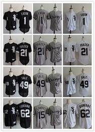Wholesale Discount Baseball - DISCOUNT Mens Chicago White Sox #1 Adam Eaton 21 Todd Frazier 49 Chris Sale 62 Jose Quintana 15 Brett Lawrie Top stitched black gray Jerseys