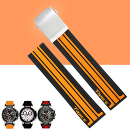 Wholesale 21mm Strap - Wholesale- AUTO 21mm Crude Latex Rubber Watch Band Strap Bracelet for T-race T-sport T048 Series Watch T048.417.27.057.01 + Free TOOLS