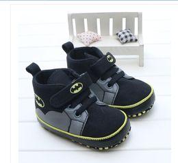 Niños zapatos de lona de dibujos animados online-Al por mayor- TongYouYuan Classic Canvas Infant Toddler Baby Boy Girls Niños Prewalkers Cartoon Bat man Sports Sneakers Botas Zapatos de tobillo 0-1T