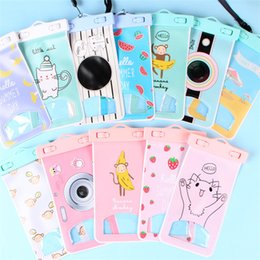 Wholesale Iphone Case Cartoon Girl - Outdoor 27 Styles Cartoon Dry Waterproof Bag Kids Girls PVC Protective Phone Case Pouch For Diving Swimming Sports For iphone 6 Plus Samsung