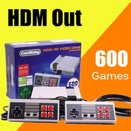 Wholesale Pal Ntsc Hdmi - HD HDMI Out Retro Classic Game TV Video Handheld Console Entertainment System Built-in 500 600 Classic Games For NES Mini Game PAL&NTSC DHL