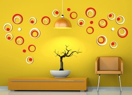 Wholesale 3d Rings - Factory Price 3D Creative Roll Ring wall sticker for child room  living room  bed room decoration 6pcs factory wholsales price free shipping