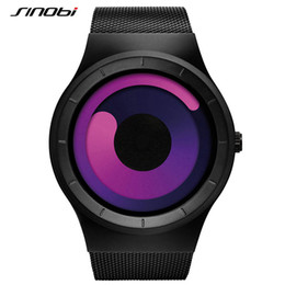 Wholesale Sinobi Sport - SINOBI 2017 New Men Watches Stainless Steel Mesh Strap Sport Watches for Men Fashion Quartz Wristwatches Relogio Masculino
