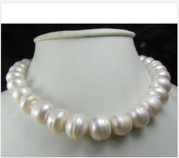 """Wholesale South Sea Pearls Singapore - CHARMING 14-16MM AAA NATURAL SOUTH SEA WHITE BAROQUE PEARL NECKLACE 14K 18"""" !"""