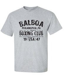 Wholesale Orange Cotton Gloves - BALBOA BOXING CLUB Movie Gloves Retro Set Men's T-Shirts MMA Gift Present Screen Print Tee Shirt
