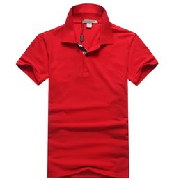 Wholesale Plaid Xxl Shirt - classic Men British Summer Short Sleeve Solid Casual Polo Shirts High Quality Cotton Designer Plaid Lace Shirt Tees Tops #BT1415 SIZE S-XXL