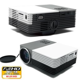 power support hd Coupons - Wholesale-2015 New arrival mini LED projector gm50 with HDMI USB SD VGA support Full HD 1080p video Power bank supply Outdoor cinema