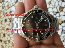 Wholesale Professional Diving Watch - 2017 new Luxury NEW Men's Sea Professional 007 JAMES BOND Ceramic Bezel ANNIVERSARY Dive Sport Automatic Mens Watches