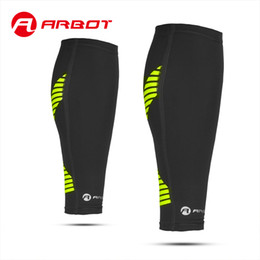 Wholesale Calf Shin Support - Wholesale- Arbot Compression Calf Sleeve for Basketball Volleyball Men Support Calf Elastic Sports Wrap Guard Shin Leg Sleeve Protector