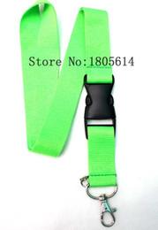 Wholesale Detachable Keyring - Hot 30pcs green Lanyard Strap Badge Running ipod Holder Detachable Keychain Neck Strap Neck Keyring