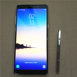 Wholesale Free Spanish Mp3 - DHL free shipping Goophone Note8 N8 EDGE 1GBRAM 8GB ROM Shows 2GB 32GB 64-Bit Quad Core MTK6580 6.3inch LCD