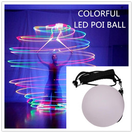 Wholesale Costumes Women Ideas - Colorful LED POI Thrown Balls For Belly Dancer Stage Performance Props Quality Dance Costume Accessory New Idea