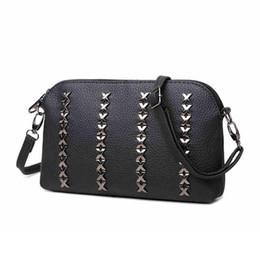 Wholesale Vintage Cotton Shoulder Bags For Women - Luxury Women Messenger Bags Rivet Crossbody Bags For Women Ladies Hand Bags Design Bolsa Clutches Small Shoulder Bag Sac A Main