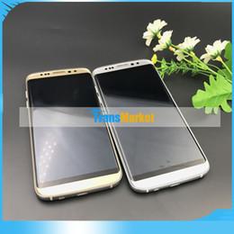 Wholesale Cheap Unlocked Dual Phone - S8 5.5Inch HD Phones MTk6580A Quad Core Unlock Phone 8GB ROM 1GB RAM Cheap Cell Phone Dual Camera Real 8MP smart phon Wifi 1pc