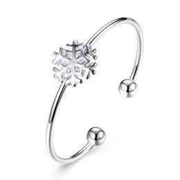 Wholesale Trendy Womens Bracelets - Women Trendy Charms Snowflake Love Bracelets Bangles Silver Filled Fashion Jewelry Top Design Womens Punk Bracelet Homme Gifts