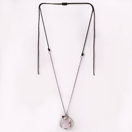 Wholesale Green Acrylic Beads - 2018 Hot Sale stone beads necklace stainless steel bear pendant Necklace Gold Silver Filled Link Chain Women Necklace