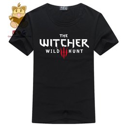 Wholesale Hunting Shirts For Men - Wholesale- Hot game fans t shirt The witcher wild hunt high quality cotton t shirt for boyfriend gamer t shirt ac158