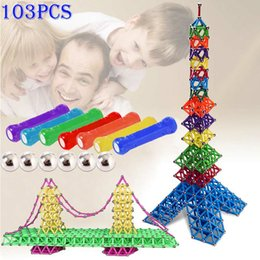 Wholesale toy magnets building - 103pcs Magnetic Toys Sticks Building Blocks Set Kids Educational Toys For Children Magnets Christmas Gift YH-17