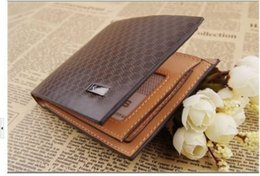 Wholesale Stylish Wallets For Men - Open Short Square Wallets New Fashion Stylish Casual Interior Compartment Photo Holder Card Holder For men