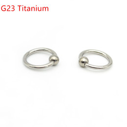 Wholesale Tragus Ear Rings - Grade 23 Titanium BCR Captive Bead Ring16G 8mm 10mm 12mm Ball Closure Lip Nose Ear Tragus Septum G23 Body Piercing Jewelry