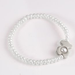 Wholesale Working Girls - TL stainless steel pearl stone beads bracelet manual work selected item excellent quality for girl & lady