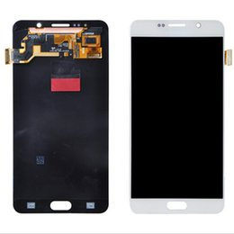 Wholesale Digitizer For Galaxy Note - Original LCD For Samsung Galaxy Note 5 LCD Display Touch Screen Digitizer Assembly Note V N9200 N920 N920T N920A Replacement