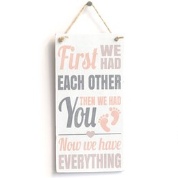 "Wholesale D Signed - Meijiafei First We Had Each Other Then We Had You Now We Have Everything Girl PVC Sign Plaque 10""x5"""