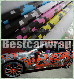 Wholesale Colors Stickers - VARIOUS Colors Digital Camo Vinyl Car Wrap With Air release Tiger Camouflage Truck wraps covering styling Foil size 1.52x20m roll 5x67ft