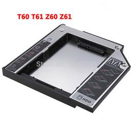 Esata staffa online-All'ingrosso SATA Hard Driver Disk Adapter 9.5mm DVD-ROM Optibay Staffa disco in lega di magnesio per Thinkpad T60 T61 Z60 Z61