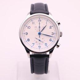 Wholesale Pilots Watches - AAA TG men luxury pilot Chronograph classic high quality belt IW 371417 brand belt Watch Free Shipping