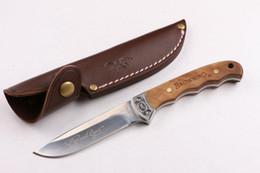 Bräunungsmesser holzgriff online-Hochwertige Browning BLN001 Holzgriff kleine Jagdmesser Outdoor Jagd Camping Messer Werkzeug Messer versandkostenfrei
