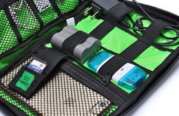 Wholesale Cable Inserts - Portable Organizer System Kit Case Storage Bag Digital Gadget Devices USB Cable Earphone Pen Travel Insert Oxford Cloth A429