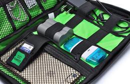 Wholesale Travel Gadget Bags - Portable Organizer System Kit Case Storage Bag Digital Gadget Devices USB Cable Earphone Pen Travel Insert Oxford Cloth A429