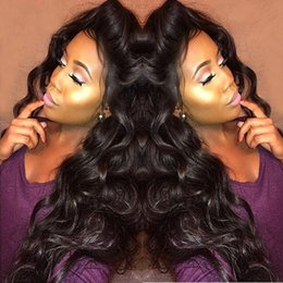 Wholesale Thick Density Lace Front Wigs - Thick and Soft Virgin Hair 180 Density Lace Front Wig Glueless Indian Body Wave Human Hair Wigs With Baby Hair For Black Women