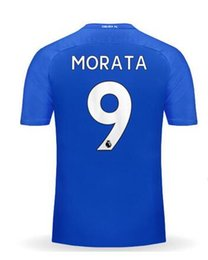 Wholesale Discount Cheap Home blue Thai Quality Soccer Jerseys Customized Name Number Morata Hazard Fàbregas David Luiz football Wear
