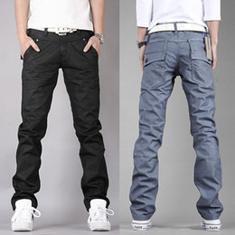 Wholesale Personalized Jeans - Wholesale-Promotion Hot Sale Freeshipping Famous Brand Men Jeans Pants Casual Mid Waist Water Wash Slim Personalized Denim Trousers