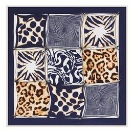 Wholesale Designer Silk Leopard Scarves - H brand 2017 summer 100% silk women's luxury brand designer scarves the leopard scarves print silk scarf black 100*100cm-G039