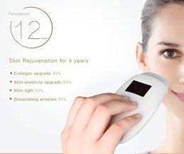 Wholesale Led Microcurrent - Portable Red Led Lights Microcurrent face lifting skin firming Radio Frequency Skin Rejuvenation Skin Care Beauty Equipment SWT-8903