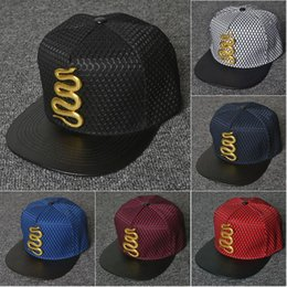 Wholesale Embroidered Baseball Caps Cheap - 2016 New Fashion Snake Baseball Cap Snapback Hats and Caps for Men Women Brand Sports Hip Hop Flat Sun Hat Cheap Mens Casquette
