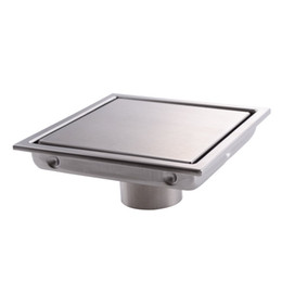 Wholesale Drain Grating - Square Shower Floor Drain with Tile Insert Grate - Made of Sus304 Stainless Steel , 6-inch , Multipurpose , Invisible Look or Flat Cover