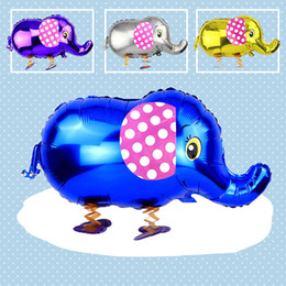 Wholesale Inflatable Air For Balloons - Elephant Cartoon Balloon Sheet Air Balloons Inflatable Gifts For Kids Birthday Party  Wedding Balloon Decoration Cute Color Balloon Toys