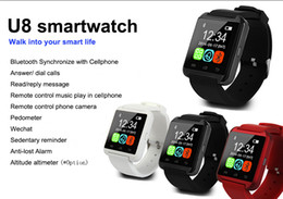 Wholesale Android Watch Cellphones - Free Shiping U8 Bluetooth 3.0 Smartwatch U Watches Touch Wristwatch Smart Watch for iPhone Android Phones Smartphones Cellphones SAMSUNG HTC