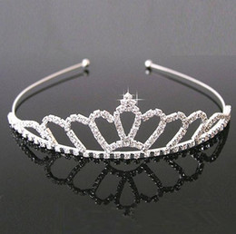 Wholesale Pearl Headdresses - Wholesale hot sell jewelry rhinestones Hair hoop crown Headdress