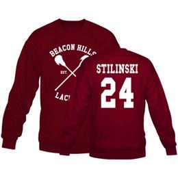 Wholesale Lacrosse Men - Wholesale-Beacon Hills Lacrosse Logo Wolf Sweatshirts Teen Wolf Stiles Stilinski 14 24 11 Hoodies For Women Men Euro Size S-XXXL