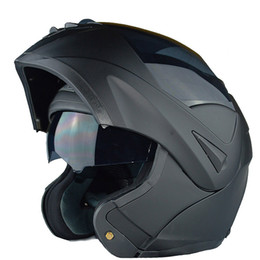 Wholesale Visor Motorcycle - New with inner sun visor flip up motorcycle helmet safety double lens winter racing motos helmet dot approved capacete